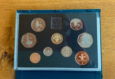 1992 Uk Proof Coin Set With Rare Dual Dated Eu 50P Mint Coins In Box Royal Mint