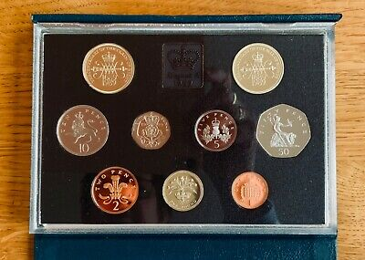 1989 ROYAL MINT DELUXE PROOF SET COINS FOR GB - Bill & Claim of Rights £2 Coins