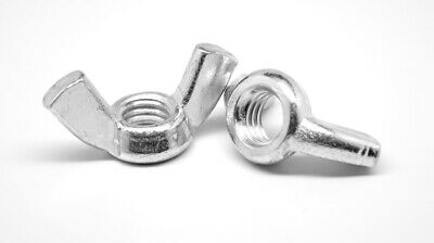 #10-32 Fine Forged Wing Nut Low Carbon Steel Nickel Plated