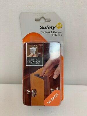 Safety 1st Cabinet and Drawer Latches 14 Pack (HS204)