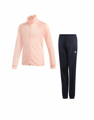 ADIDAS Girls Kids Junior Entry Quality Fabric Track Suit Running Pink DM1404