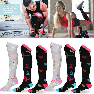 (3/6 Pairs) Copper Infused Compression Socks 20-30mmHg Graduated Mens Womens