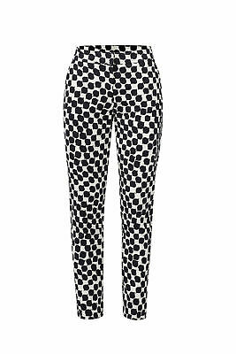 Trina Turk White Black Women's Size 6 Printed Stretch Cropped Pants $276 #296