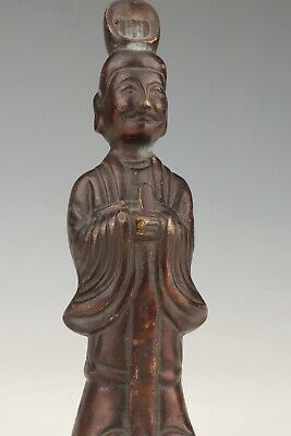 Chinese Old Bronze Statue Of Hand-Cast Poet Auspicious Gift Decoration