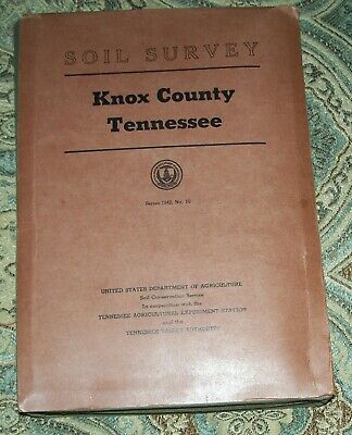 1955 Knox County Tennessee Soil Survey 17 Color Maps TVA Maps in Excellent Cond.