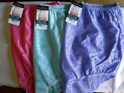 Vanity Fair Floral Embossed Briefs, 3 Pair, Size 9, New Old Stock w/Tags