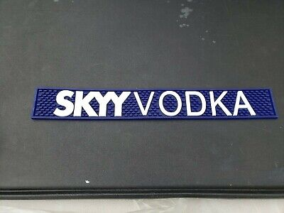 "Skyy Vodka Blue Rubber Bar Rail Runner Spill Mat Heavy Duty NEW 24/"" X 3.5/"""