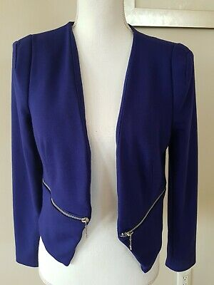 Philosophy Republic Clothing Women blue Blazer Jacket Size Small