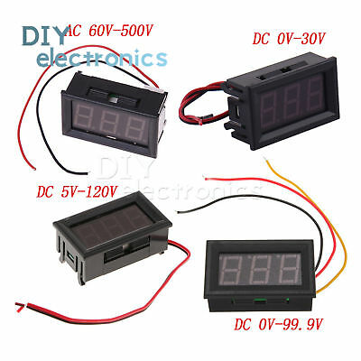 "0.56""LED Voltmeter Digital Voltage Meter AC 60V-500V DC 0V-30V/0V-99.9V/5V-120V"