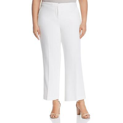 Vince Camuto Womens Parisian Ivory Crepe Dress Pants Trousers Plus 18W BHFO 2707