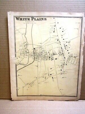 1867  White Plains Map Westchester County, Ny  Beers Atlas