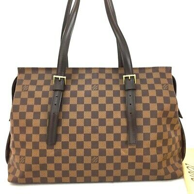 100% Authentic Louis Vuitton Damier Chelsea Shoulder Tote Bag /ee205
