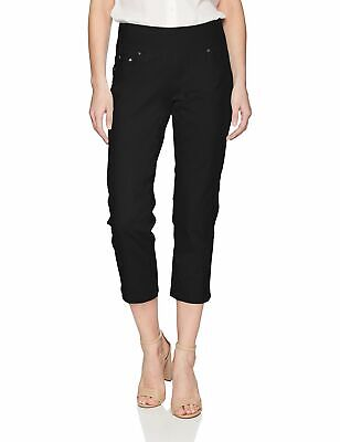 JAG Jeans Women's Black Size 14 Pull On Capris Cropped Pants Stretch $69 #000