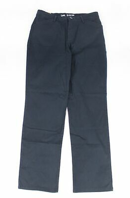 Lee Women's Pants Blue Size 10X30 Relaxed Straight Leg Chinos Stretch $44 #491