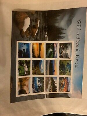 USPS Forever Postage Stamps 'Wild and Scenic Rivers' full sheet of of 12