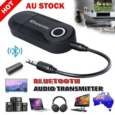 Bluetooth 4.2 Transmitter Adapter Audio Wireless 3.5mm Jack A2DP For TV Stereo