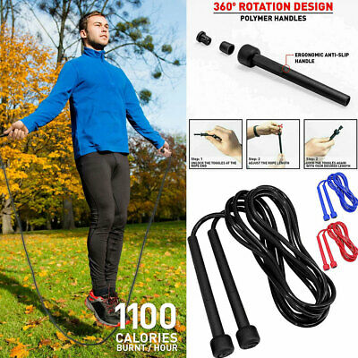 10ft Skipping Rope Fitness Jumping Weight Loss Exercise Gym Boxing MMA Training