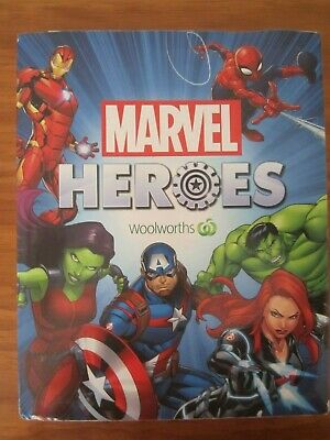 COMPLETE SET of 42 WOOLWORTHS MARVEL HEROES WITH FOLDER - AS NEW CONDITION