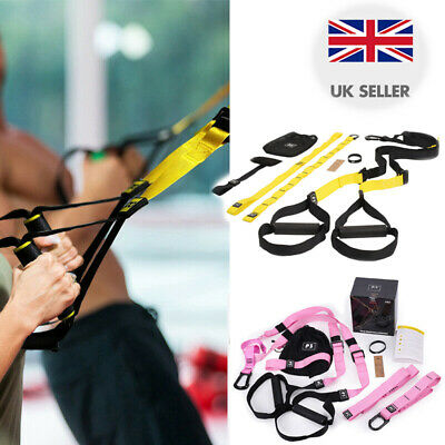 Heavy Duty Suspension Trainer Straps TRX Pro 3 Fitness Resistance Bands Home Gym