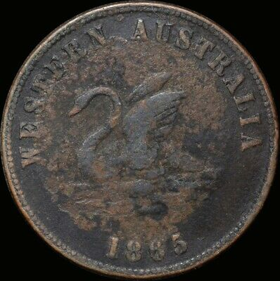 1865 Alfred Davies Copper Penny Token Very Good