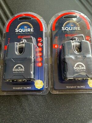 Squire @ Home Stronglock No.39CS Keyed Padlock X 2