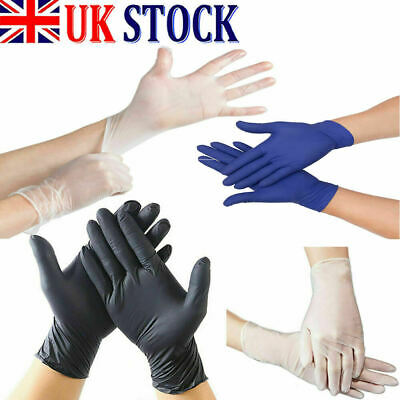 10, 20, 50, 100pcs  Vinyl Gloves Latex Free Powdered  Disposable Medical Rubber