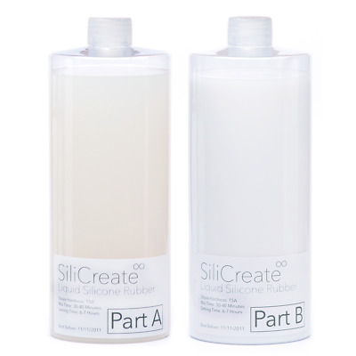 SiliCreate Silicone Rubber Mould Making Kit - 1:1 Mix Ratio - 1Kg/2Kg/4Kg