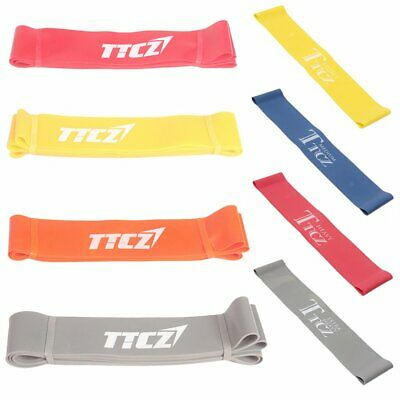 Heavy Duty Resistance Training Band Loop Power GYM Fitness Exercise Yoga 2PCS DE