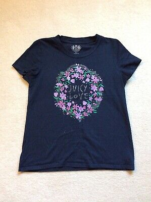 Juicy Couture Girls Navy Tshirt Size XL