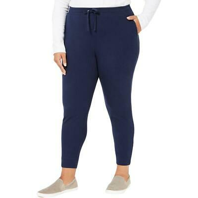 Karen Scott Sport Womens Blue Stretch Jogger Pants Athletic Plus 2X BHFO 9763