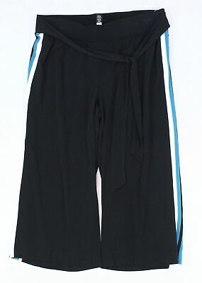 INC Womens Pants Black Blue Size Small PS Petite Coastal Stretch Stripe $69 #540