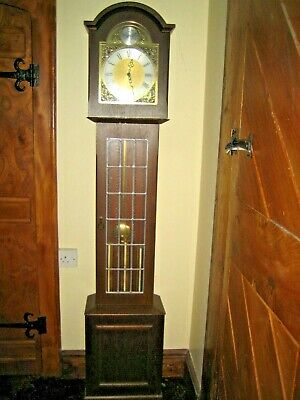 GRANDFATHER CLOCK. Westminster Chimes, on hour and quarters. 5 ft 9 inches tall.