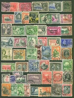 Commonwealth 54 QV + Kings Pre Dicimiel Stamps Selection Used