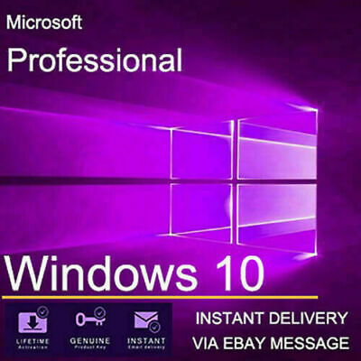 Windows 10 pro key 32/64 bit Genuine License Key Product Code Instant Delivery