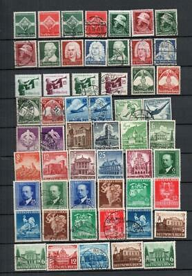 Germany 1930s-1940s Stamps Mounted Mint & Used Very Good Lot HCV G37