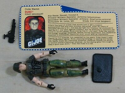G I JOE File Card Filecard      2000 Duke V8