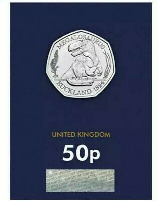 ****2020 Megalosaurus Dinosaur 50p Fifty Pence Coin Brilliant Uncirculated****