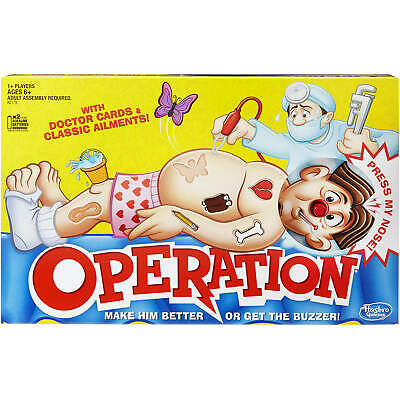 Operation Classic Board Game Hasbro Family Favorite Gaming, Ages 6 And Up NEW