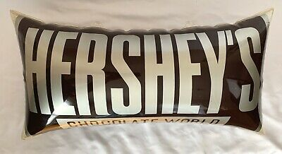 Vtg Hershey's Chocolate World Hanging Inflatable Pillow Store Advertising Sign