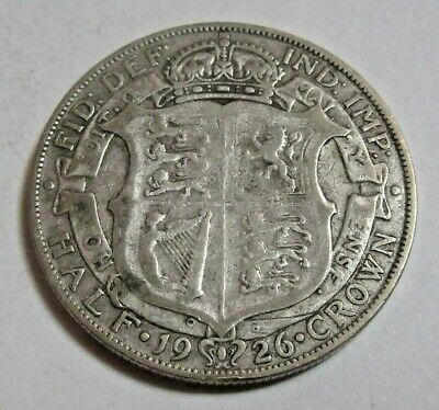 1926 Half Crown Silver King George V th