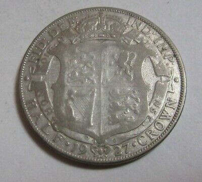 1927 Half Crown Silver King George V th