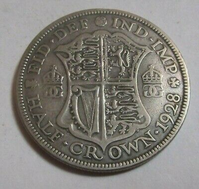 1928 Half Crown Silver King George V th
