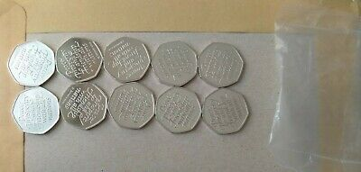 BREXIT 50p coins from a SEALED bag x 10 UNCIRCULATED