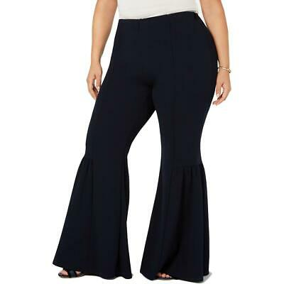 NY Collection Womens Black Stretch High-RIi Bell-Bottom Pants 2X BHFO 1197