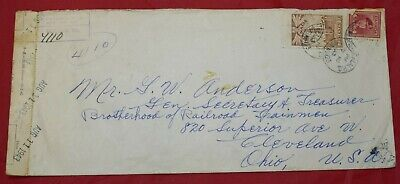 Canada Montreal Sub No 123 1943 Registered Cover to US Cleveland Ohio