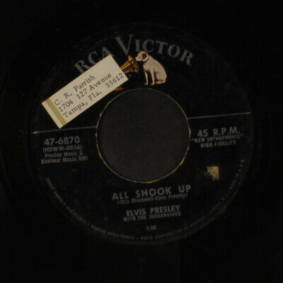 ELVIS PRESLEY: All Shook Up / That's When Your Heartaches Begin 45 (tol)