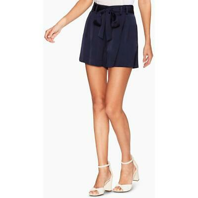 Vince Camuto Womens Navy Satin Paper bag Waist Belted Shorts 10 BHFO 1354