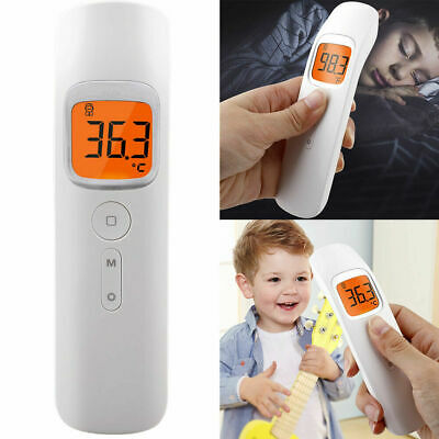 No-contact Touch IR Infrared Digital LCD Thermometer Head Forehead Baby Adult US
