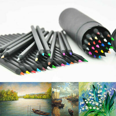 24 Colors Oil Art Pencil Drawing Sketching Artist Adult Non-toxic Colour Gift S2