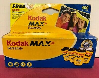 Kodak Max Versatility 400 Expired (2008) 35mm 4 Rolls Color Print Film